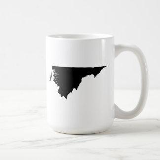 Upside Down Map of Virginia Coffee Mug