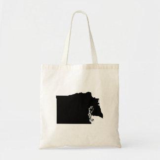 Upside Down Map of Washington Tote Bag