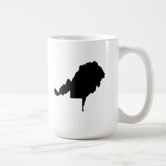 Upside Down Map of West Virginia Coffee Mug