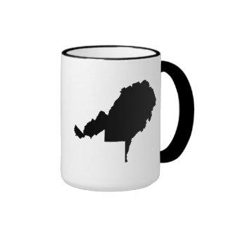Upside Down Map of West Virginia Ringer Mug
