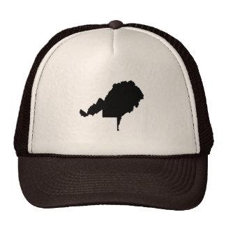 Upside Down Map of West Virginia Trucker Hat