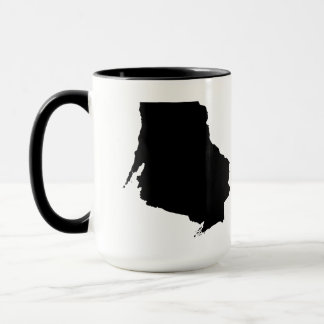 Upside Down Map of Wisconsin Mug