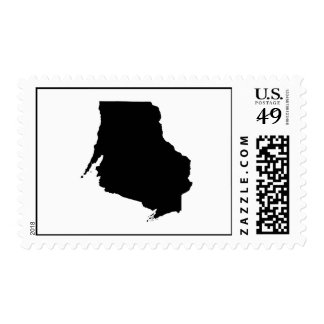 Upside Down Map of Wisconsin Stamps