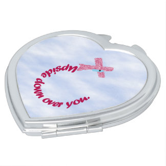 Upside Down Over You Compact Mirrors