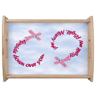 Upside Down Over You Proposal Serving Tray
