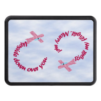 Upside Down Over You Proposal Trailer Hitch Tow Hitch Covers