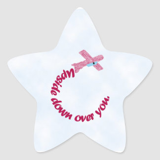 Upside Down Over You Star Sticker