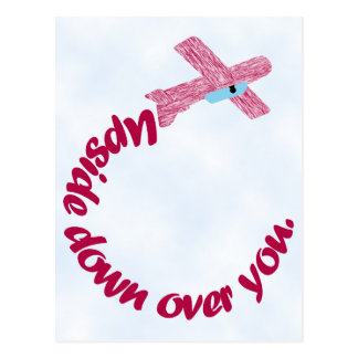 Upside Down Over You Valentine Postcard