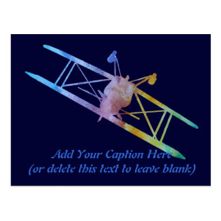 Upside Down Pitts in Rainbow Colors Postcard