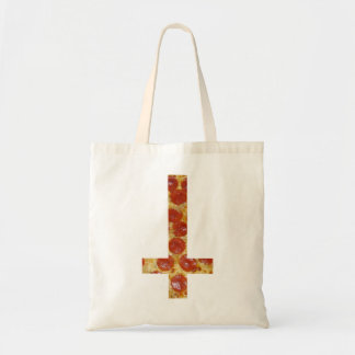 Upside Down Pizza Cross Canvas Tote Bag