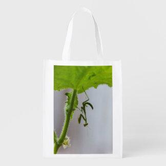 Upside Down Praying Mantis Reusable Bag Grocery Bags