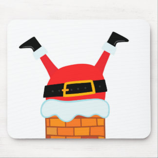 Upside Down Santa Mouse Pad