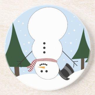 Upside-down Snowman Coaster