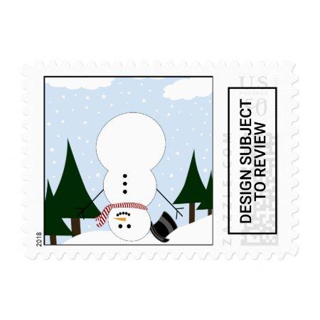 Upside Down Snowman Postage | 095974
