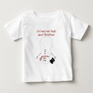 Upside-down Snowman Tee Shirt