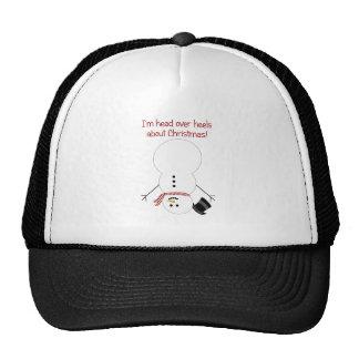 Upside-down Snowman Trucker Hat