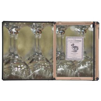 Upside Down Wine Glasses iPad Folio Cases