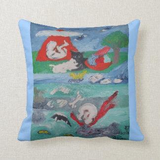 UPSIDE DOWN WORLD Throw Pillow 20in x20inch