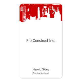 Upside Downtown - cc0000 Business Cards