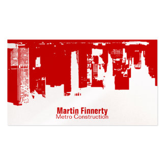 Upside Downtown Horizontal Business Card Templates