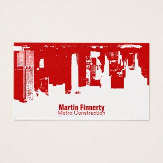 Upside Downtown Horizontal Business Card