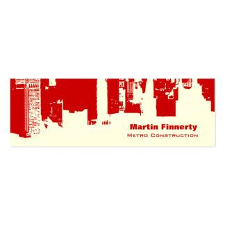 Upside Downtown Horizontal Skinny Business Cards