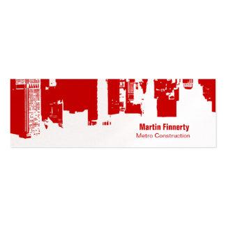 Upside Downtown Horizontal Skinny Business Card