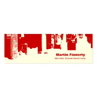 Upside Downtown Horizontal Skinny Double-Sided Mini Business Cards (Pack Of 20)