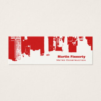 Upside Downtown Horizontal Skinny Mini Business Card