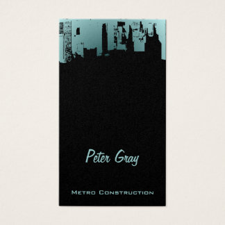 Upside Downtown Midnight New Gray Grey Business Card