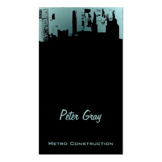 Upside Downtown Midnight New Gray Grey Double-Sided Standard Business Cards (Pack Of 100)