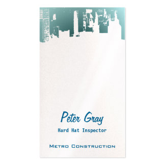 Upside Downtown Midnight New Gray Grey G Business Card Template
