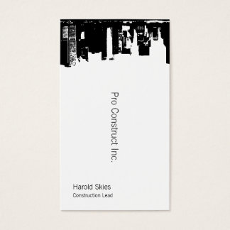 Upside Downtown Midnight Sky Business Card