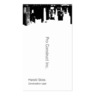 Upside Downtown Midnight Sky Double-Sided Standard Business Cards (Pack Of 100)