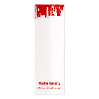 Upside Downtown Skinny Business Card Template