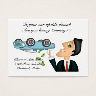 Upsidedown Auto Salesman Business Card