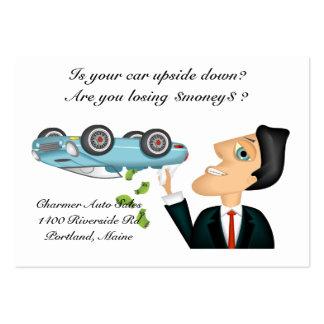 Upsidedown Auto Salesman Business Card Template