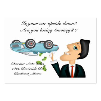 Upsidedown Auto Salesman Large Business Cards (Pack Of 100)