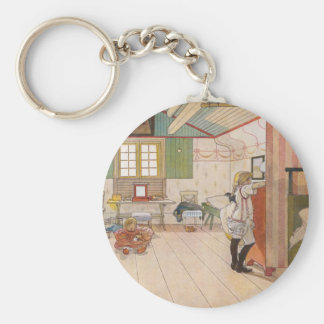 Upstairs Attic Bedroom with Baby Sister. Keychain