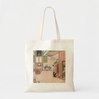 Upstairs Attic Bedroom with Baby Sister. Tote Bag