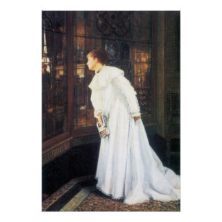 Upstairs by James Tissot Poster
