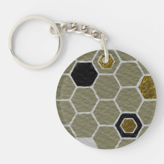 Upstanding Sensitive Dazzling Agree Double-Sided Round Acrylic Keychain
