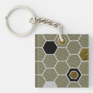 Upstanding Sensitive Dazzling Agree Double-Sided Square Acrylic Keychain