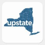 upstate. pegatina azul de la insignia del vintage