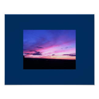 Upstate sunset in Ithaca ny Poster
