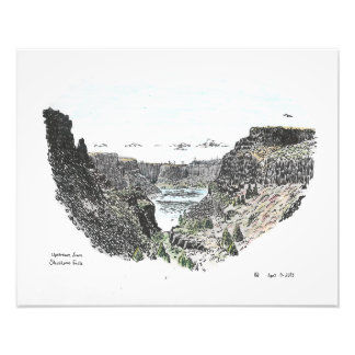 Upstream from Shoshone Falls Photo Print