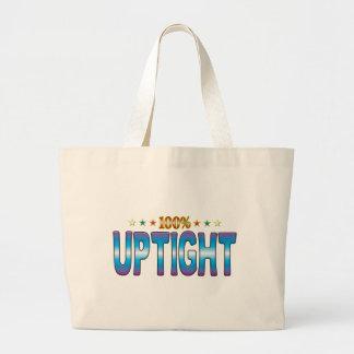 Uptight Star Tag v2 Tote Bags