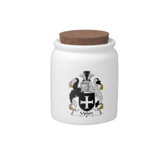Upton Family Crest Candy Jar