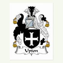 Upton Family Crest Postcard