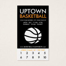Uptown Basketball Loyalty Business Card at Zazzle